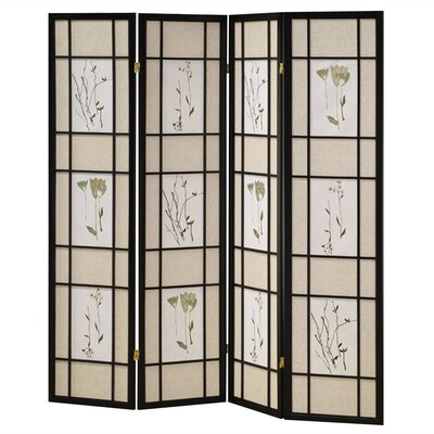 4 Panel Room Divider in Black