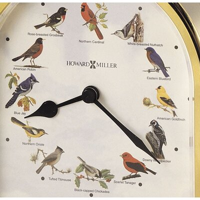 Howard Miller® Songbirds of America Table Clock