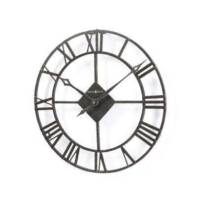 Howard Miller® Lacy II Wall Clock in Dark Charcoal Grey