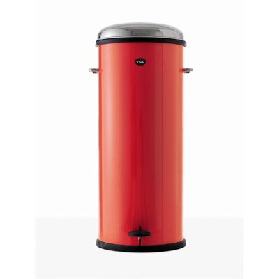 VIPP Rising Red 24 Eight-Gallon Pedal Bin