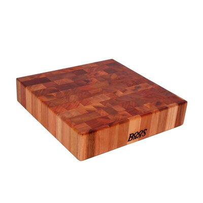 "John Boos BoosBlock 14"" x 14"" Cherry Butcher Block Cutting Board"
