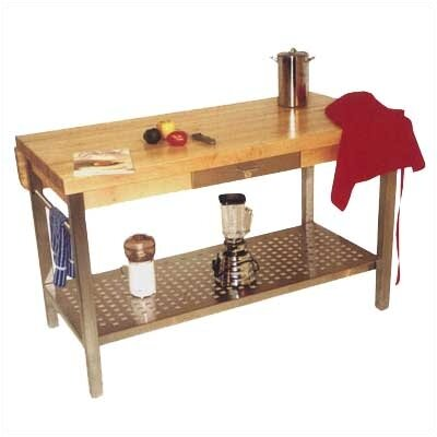 John Boos Cucina Grande Prep Table with Butcher Block Top