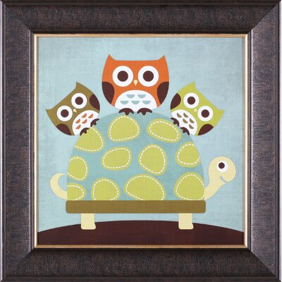 Art Effects ''Three Owls on Turtle'' Wall Art