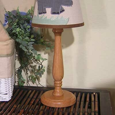 Brandee Danielle On Safari Natural Candlestick Lamp