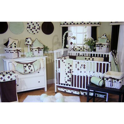 Brandee Danielle Minky Lemon Chocolate Polka Dot Crib Bedding Collection