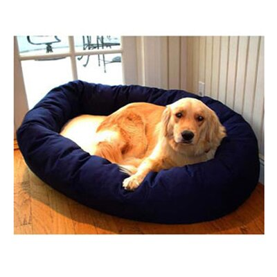 Majestic Pet Products Bagel Dog Bed in Blue and Sherpa