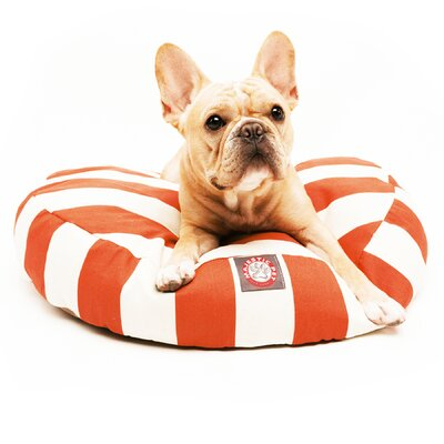Majestic Pet Products Vertical Strip Round Pet Bed