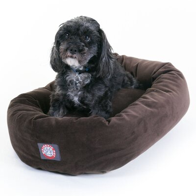Majestic Pet Bagel Dog Bed in Faux Suede