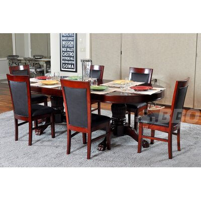 BBO Poker Rockwell 8 Piece Dining Table Set