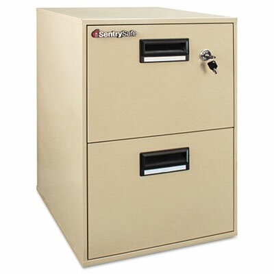 Sentry Safe 1 Hr Fireproof Key Lock 2 Drawer File Safe