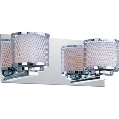 ET2 Mesh Two Light Bath Vanity in Polished Chrome