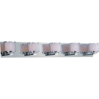 ET2 Mesh Five Light Bath Vanity in Polished Chrome