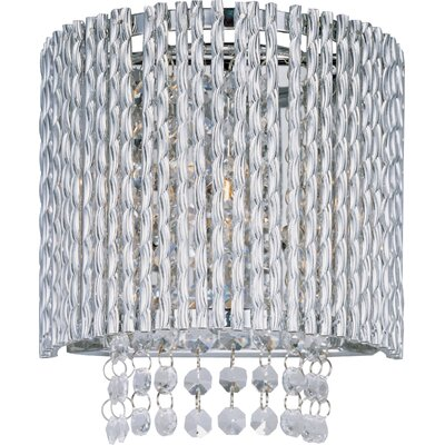 ET2 Spiral One Light Wall Sconce in Polished Chrome