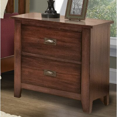 A-America Kettle Falls 2 Drawer Nightstand