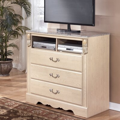 Sanibel 3 Drawer Media Chest