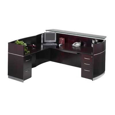 Mayline Group Napoli Reception Desk and Return with Screen