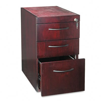 Mayline Group Corsica Pedestal, 15W x 24D x 27H, Mahogany