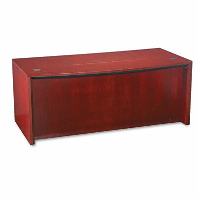 Mayline Group Corsica Series Bow Front Executive Desk Top