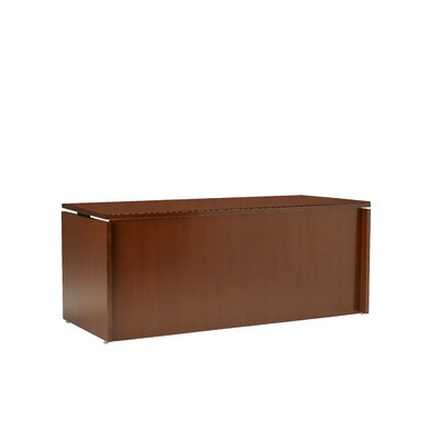 Mayline Group Stella Straight Front Executive Desk with 2 Grommet Holes