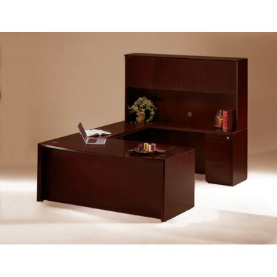 Mayline Group Corsica Executive Suite with Wood Door Hutch