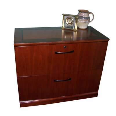 Mayline Group Sorrento 2-Drawer Lateral File Cabinet in Espresso Or Bourbon Cherry