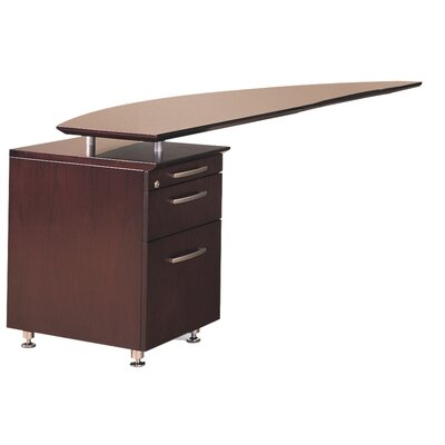 Mayline Group Napoli Desk Return with Pedestal