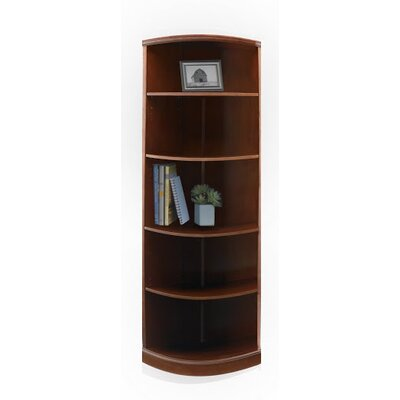 Mayline Group Sorrento 5-Shelf Quarter-Round Bookcase