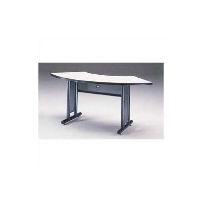 "Mayline Group Meeting Plus: 67"" x 24"" Crescent Meeting/Training Table"