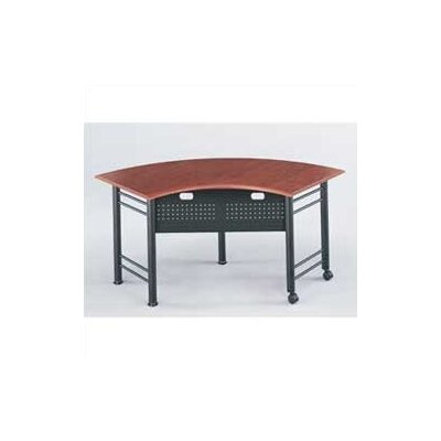 Mayline Group Conclave: 67&quot; x 24&quot; Crescent Meeting/Training Table