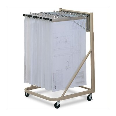 Mayline Group Vertical Plan Files: Rolling Stand with Hangers and Clamps