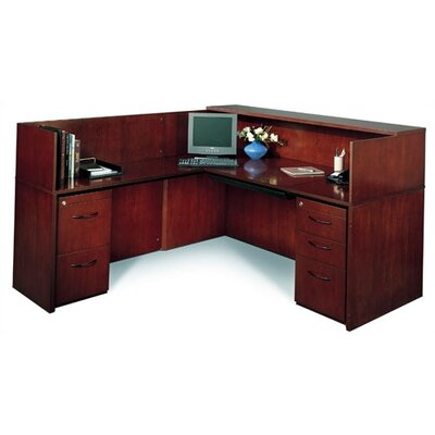 "Mayline Group Corsica 72"" W Reception Desk (Left Configuration)"