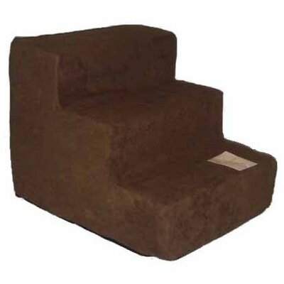 Best Pet Supplies Pet Stairs in Dark Brown Fleece