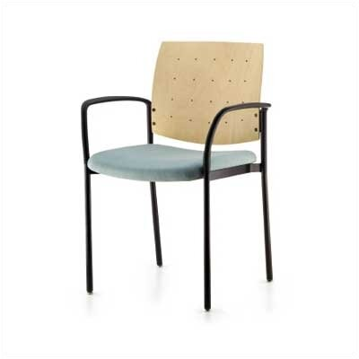 Source Seating Cache Out Stacking Chair (Upholstered Seat with Wood Back)