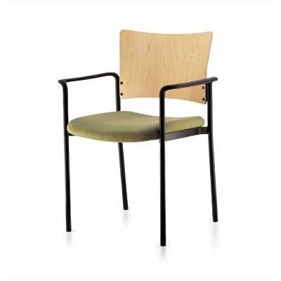 Source Seating Keystone Staxx Stacking Chair (Upholstered Seat with Wood Back)