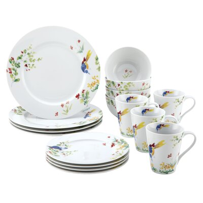 Spring Medley 16 Piece Dinnerware Set