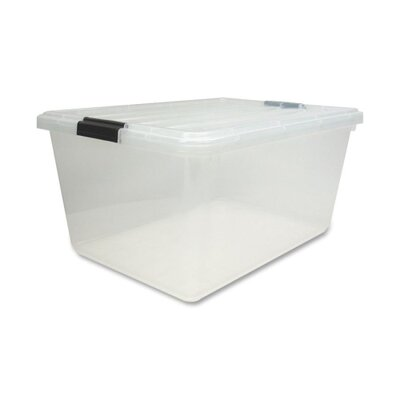 Iris Storage Box with Lid, Clear, 44, 68, or 91 Quart - 4 per Carton