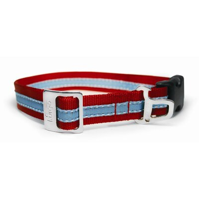 Wander Dog Collar in Red / Blue