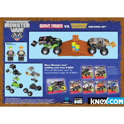 K'NEX Monster Jam Grave Digger vs Maximum Destruction
