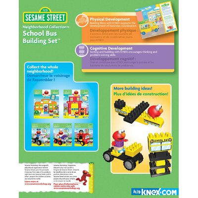 K'NEX Sesame Street Neighborhood School Bus Building Set