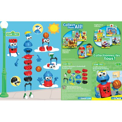 K'NEX Sesame Street Cookie Monster's Basketball Building Set