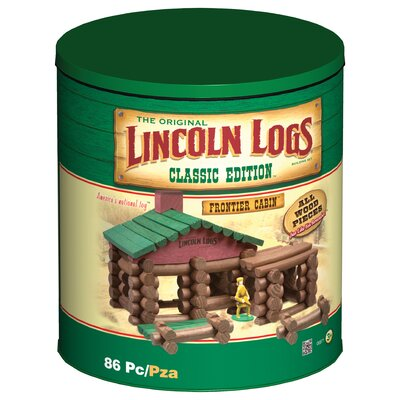 K'NEX Lincoln Logs Classic Edition Frontier Cabin Building Set