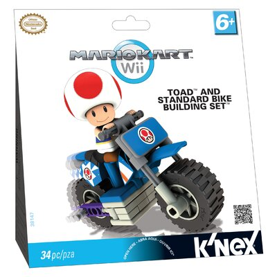 K'NEX Nintendo Toad and Standard Bike Building Set