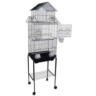 YML Pagoda Top Small Bird Cage with Stand