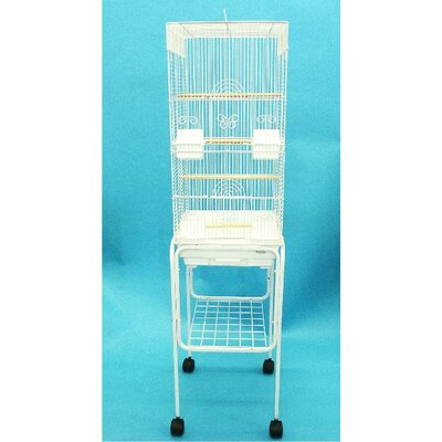 YML Tall Square 4 Perch Bird Cage with Stand