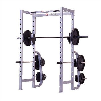 Quantum Fitness High Impact Commercial Power Rack with Plate Storage