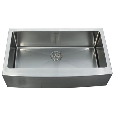 "Kraus Farmhouse 33"" Single Bowl Kitchen Sink with Faucet and Soap Dispenser"