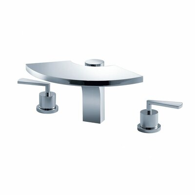 Kraus Bathroom Combos Widespread Waterfall Fantasia Faucet with Double Lever Handles