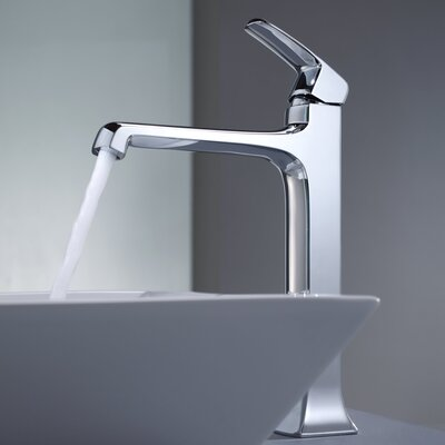 Kraus Decorum Square Ceramic Bathroom Sink and Faucet