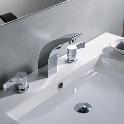 Kraus Bathroom Combos Widespread Waterfall Illusio Faucet with Double Handles