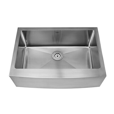 "Kraus 27"" x 16"" Farmhouse Kitchen Sink with Faucet and Soap Dispenser"
